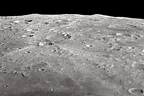 Mountains on the moon