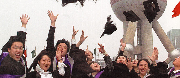 Graduates at University's first Awards Ceremony in China.