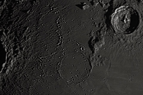 Ejecta from Copernicus crater