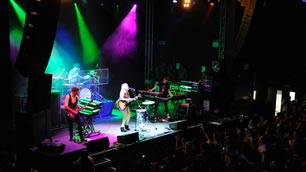 A music band performing on stage