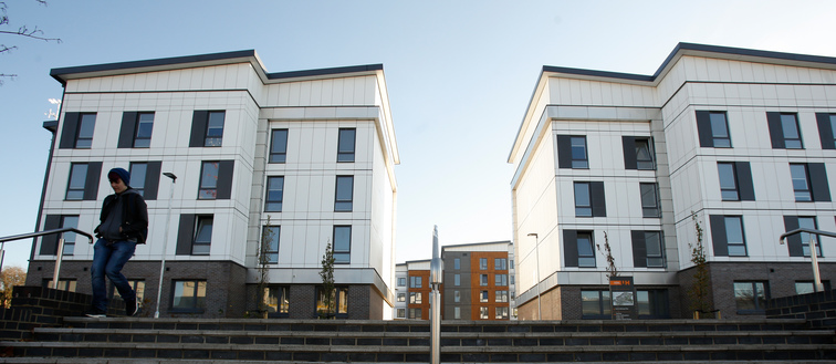 Student accommodation on College Lane campus