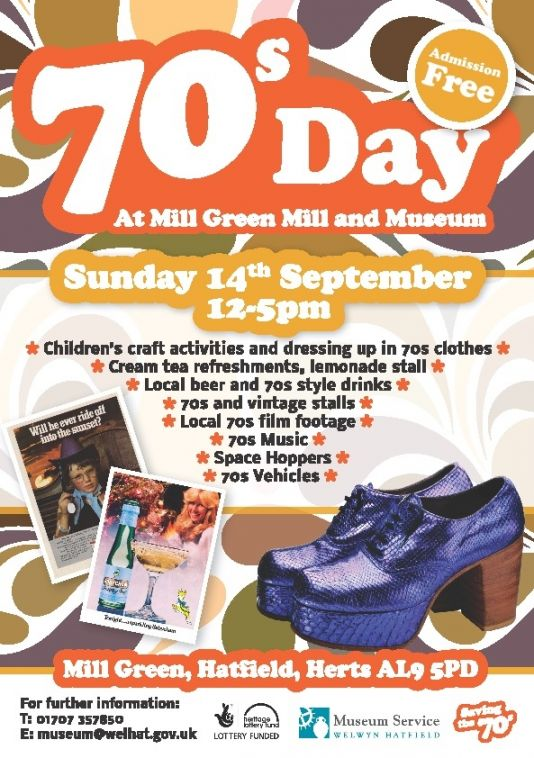 70s Day at Mill Green Mill and Museum