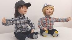 Two Kaspar robots
