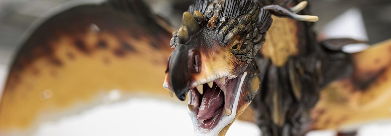 Model of dragon