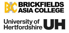 Brickfields Asia College and University of Hertfordshire logo