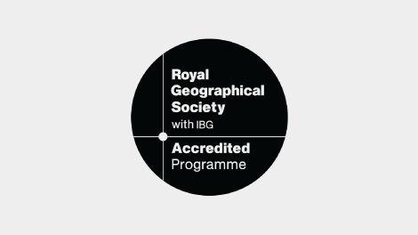 Gain a degree accredited by the Royal Geographical Society