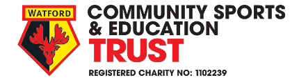 Watford FC community sports and education trust logo