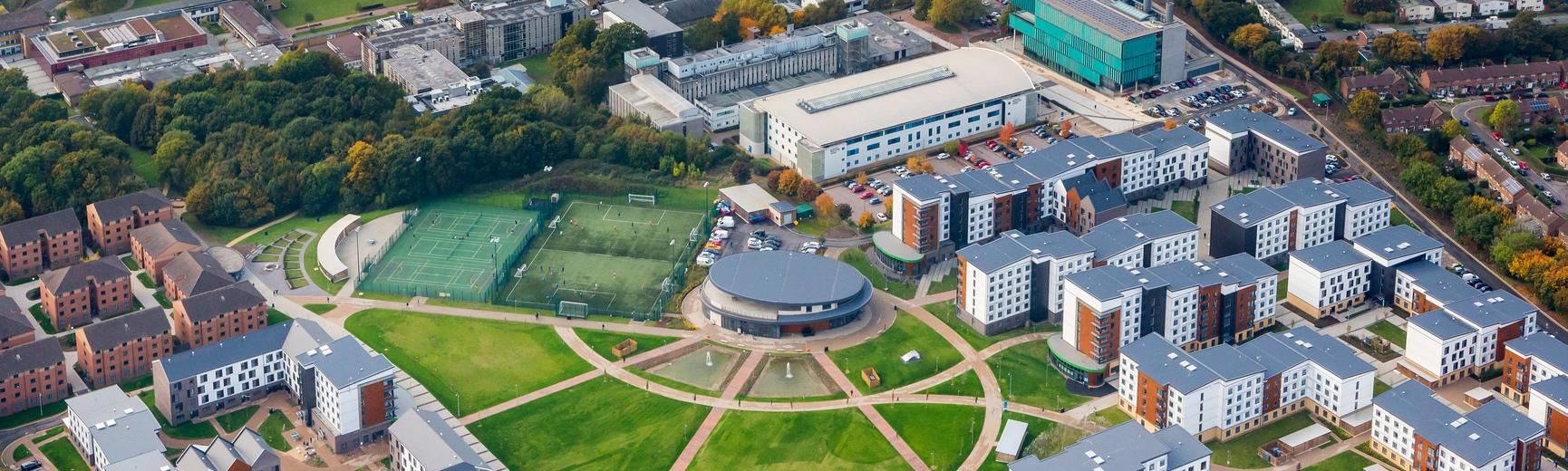 College Lane aerial