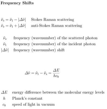 Frequency shift equation