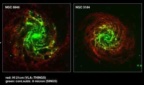 NGC 6945 and NGC 3184 visual