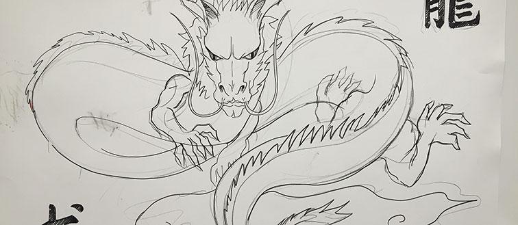 Sketch of a dragon