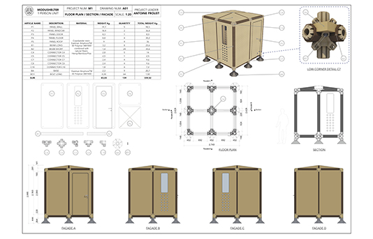 Modushelter Technical Drawing