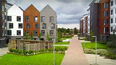 Exterior view of student accommodation at College Lane