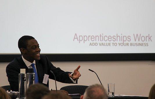 MP Bim Afolami addresses the Apprenticeships Work conference
