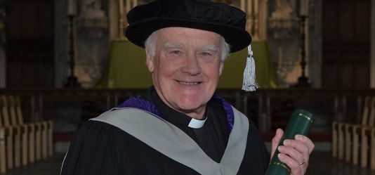 Leading local figure The Venerable Trevor Pryce Jones honoured by the University