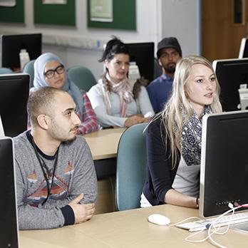 Students in computer workshop