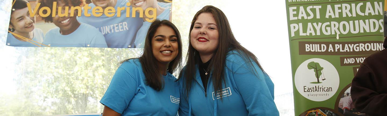 Students at freshers' fair