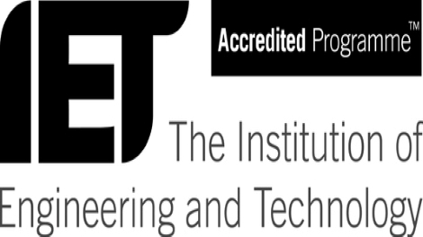 Accredited by IET, one of the world's largest engineering institutions