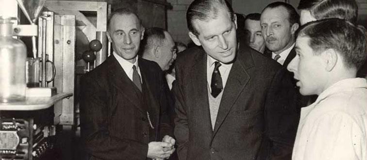 HRH The Duke of Edinburgh visits the University of Hertfordshire in 1952.