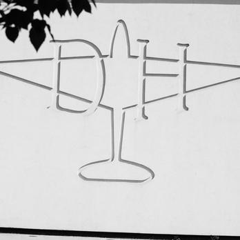 Aeroplane engraved in stone