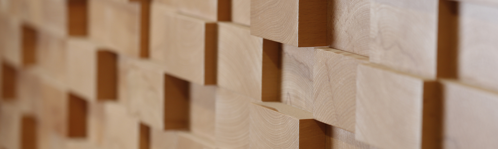 Wooden blocks on wall
