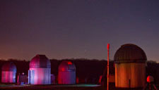beautifully lit domes