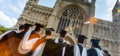 Football stars awarded honorary doctorates as University of Hertfordshire graduation returns to St Albans Abbey
