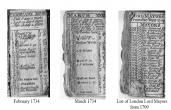 1734 London Almanac found in old Hatfield Pub.