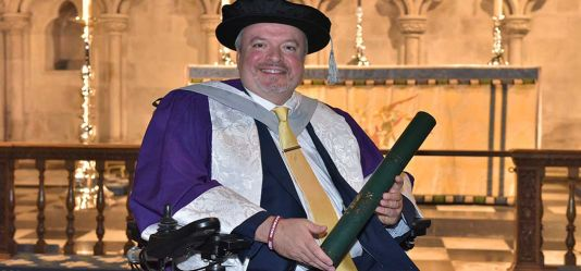 Influential disability champion honoured by the University