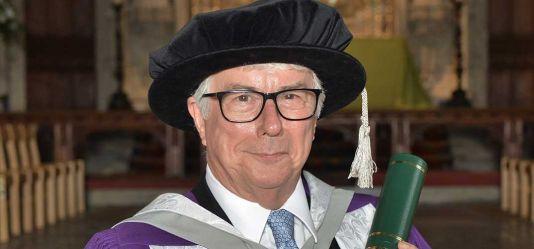 Internationally acclaimed author and Hertfordshire resident Ken Follett honoured by the University