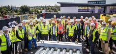 Topping out ceremony marks construction milestone for University's new business and social hub building