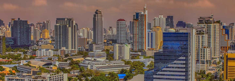Bangkok skyline buildings