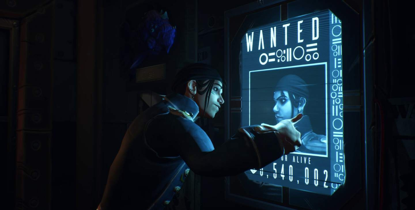 Animated character looking at wanted poster