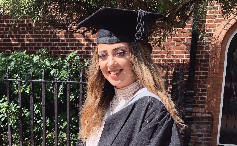 Ellie Fowler in graduation gown