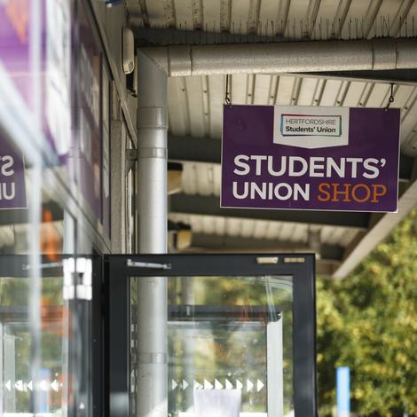 Student Union shop sign