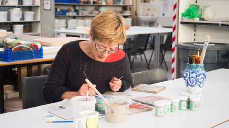 Be creative in our dedicated workshop spaces