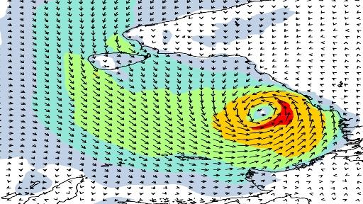 Cyclone deep layer wind shear