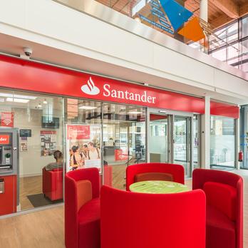 Santander bank on campus