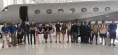 Pilot studies students take-off for flight training in Michigan