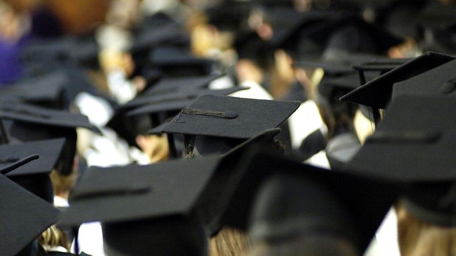Graduation ceremony in Abbey