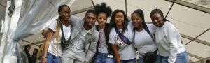 Black students in group