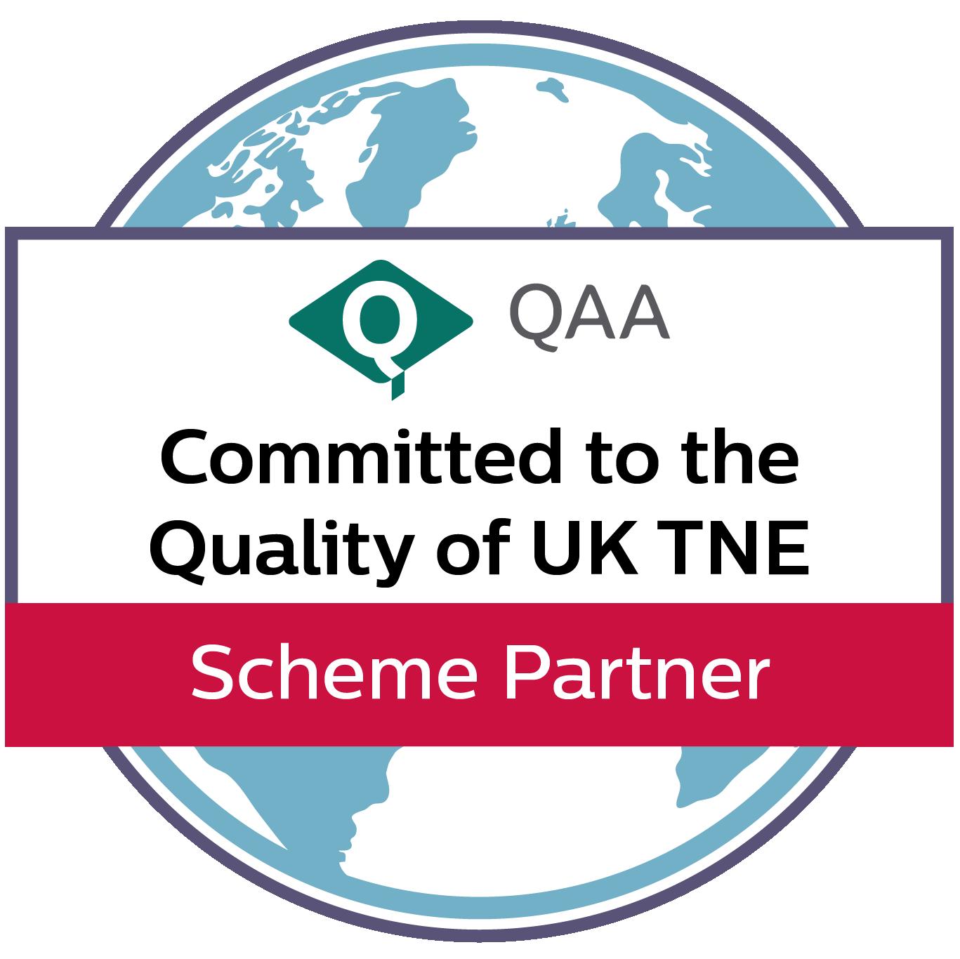 QE -TNE partner scheme logo