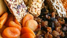 dried fruit and cereal bars