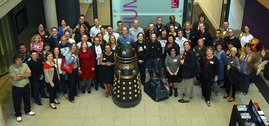 Doctor Who conference group shot