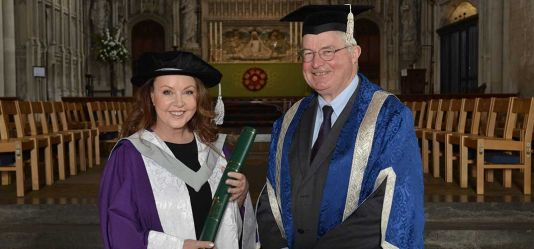 World's biggest-selling soprano Sarah Brightman honoured by the University