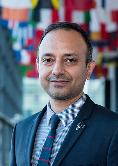 A man representing Nepal Regional Office