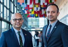 Subal Kaushik and Bhanu Kaushik in de Haviland