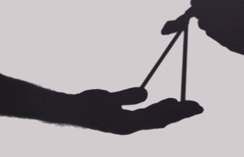 Silhouette of hand