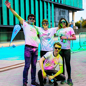 Students after colour run
