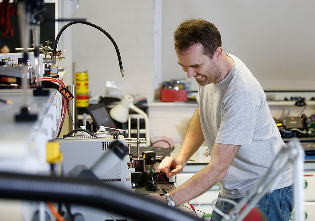 Man undertaking STEM research